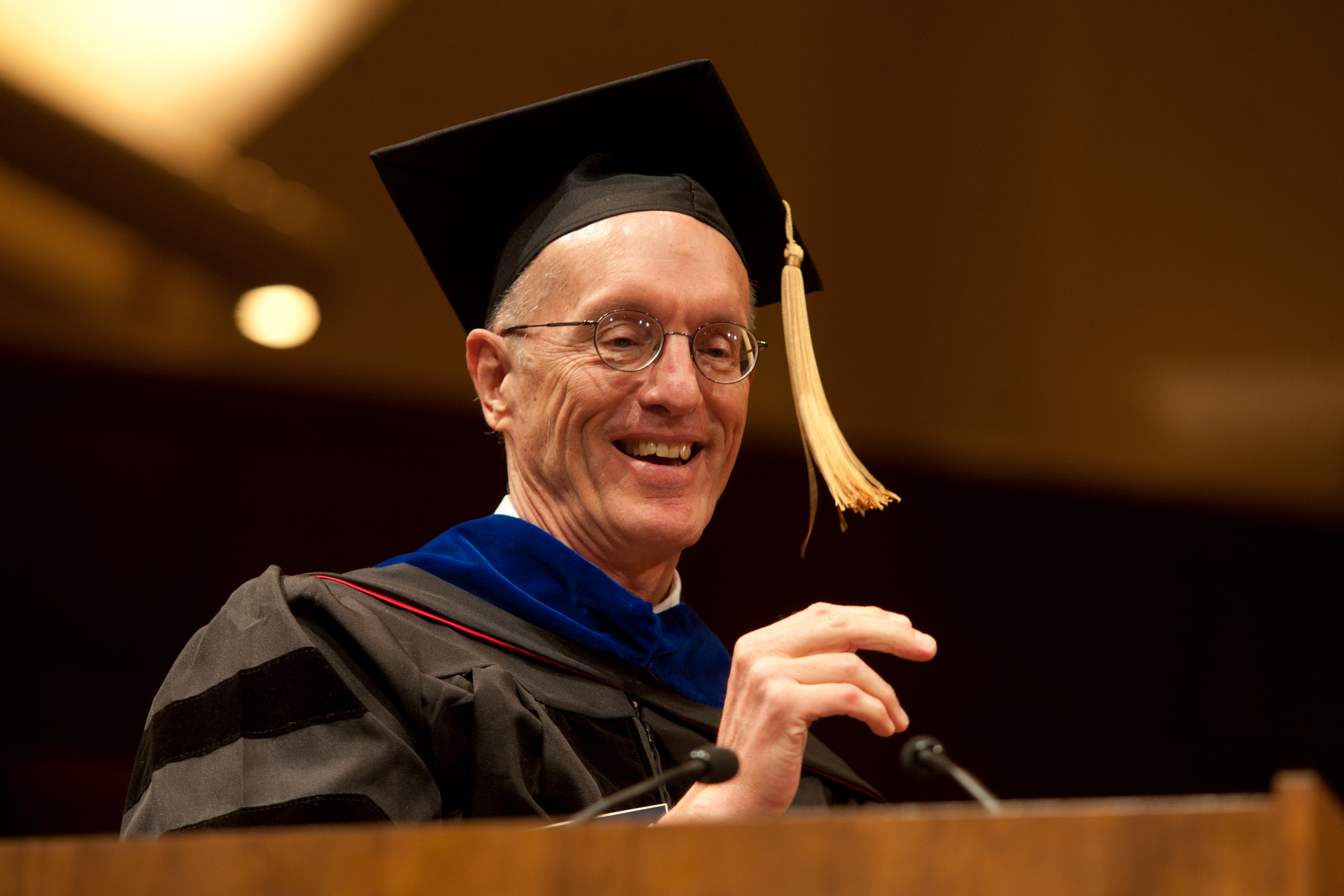 Peter Sargent, PhD, served as the Master of Ceremonies at the commencement. He is a professor and associate dean for Academic Affairs in the School of Dentistry.