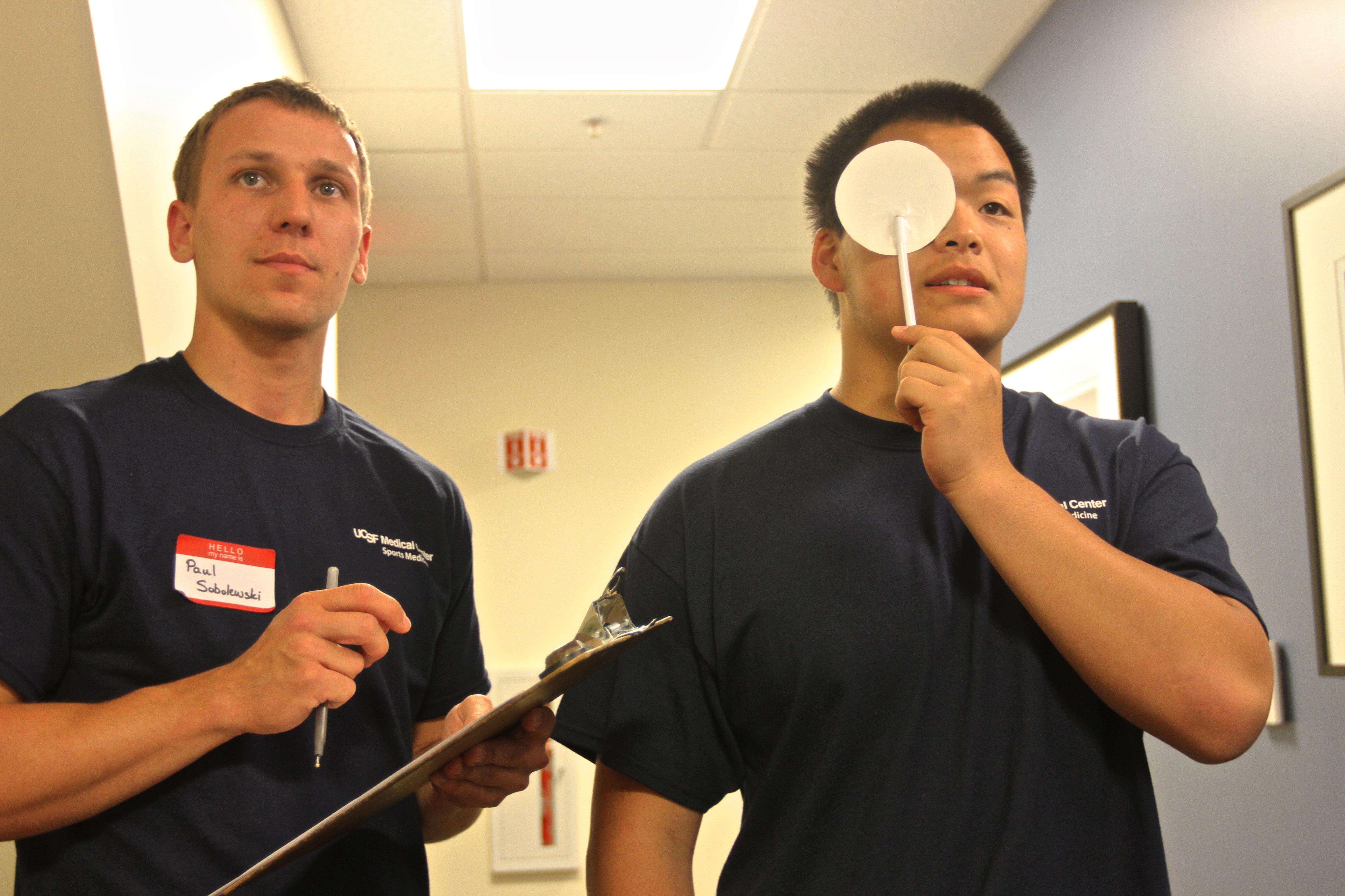 PlaySafe starts with an eye exam.