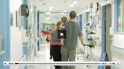 screenshot of UCSF Benioff Children's Hospital San Francisco video footage