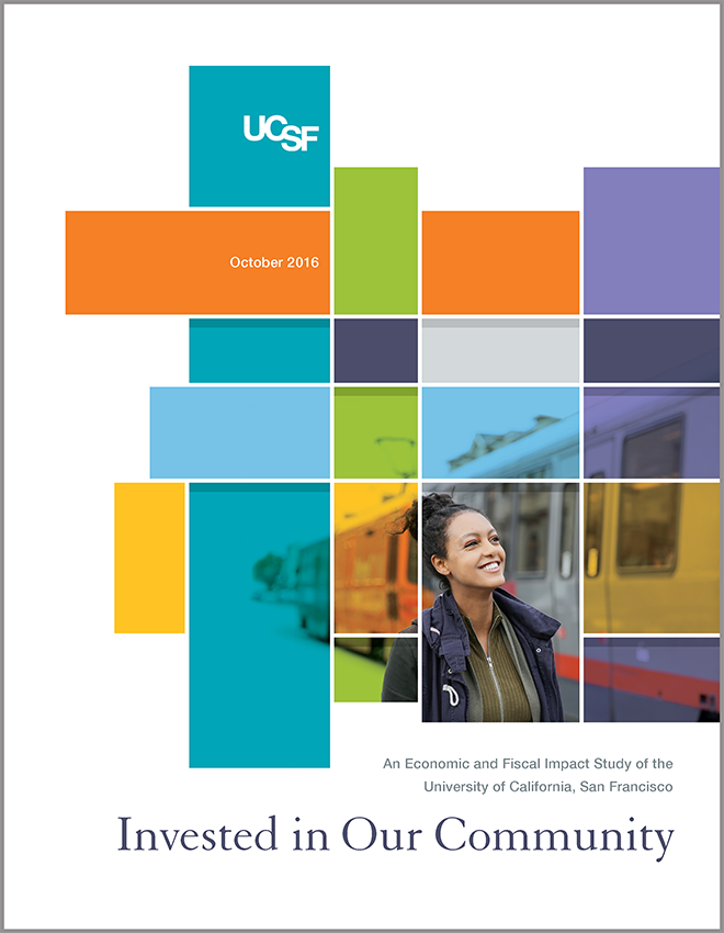 "Cover of the 2016 Report ""Invested In Our Community"""