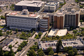 Aerial view of the UCSF Fresno campus