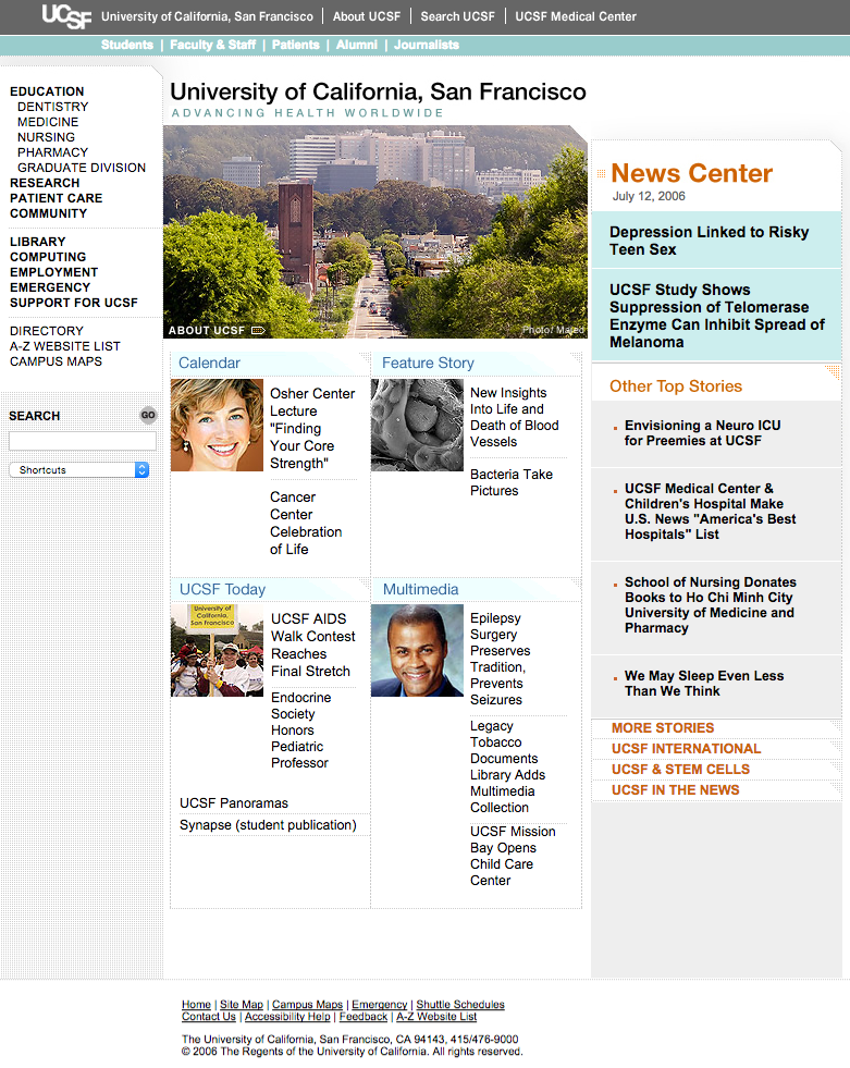 UCSF to Launch Redesign of Flagship Website | UC San Francisco