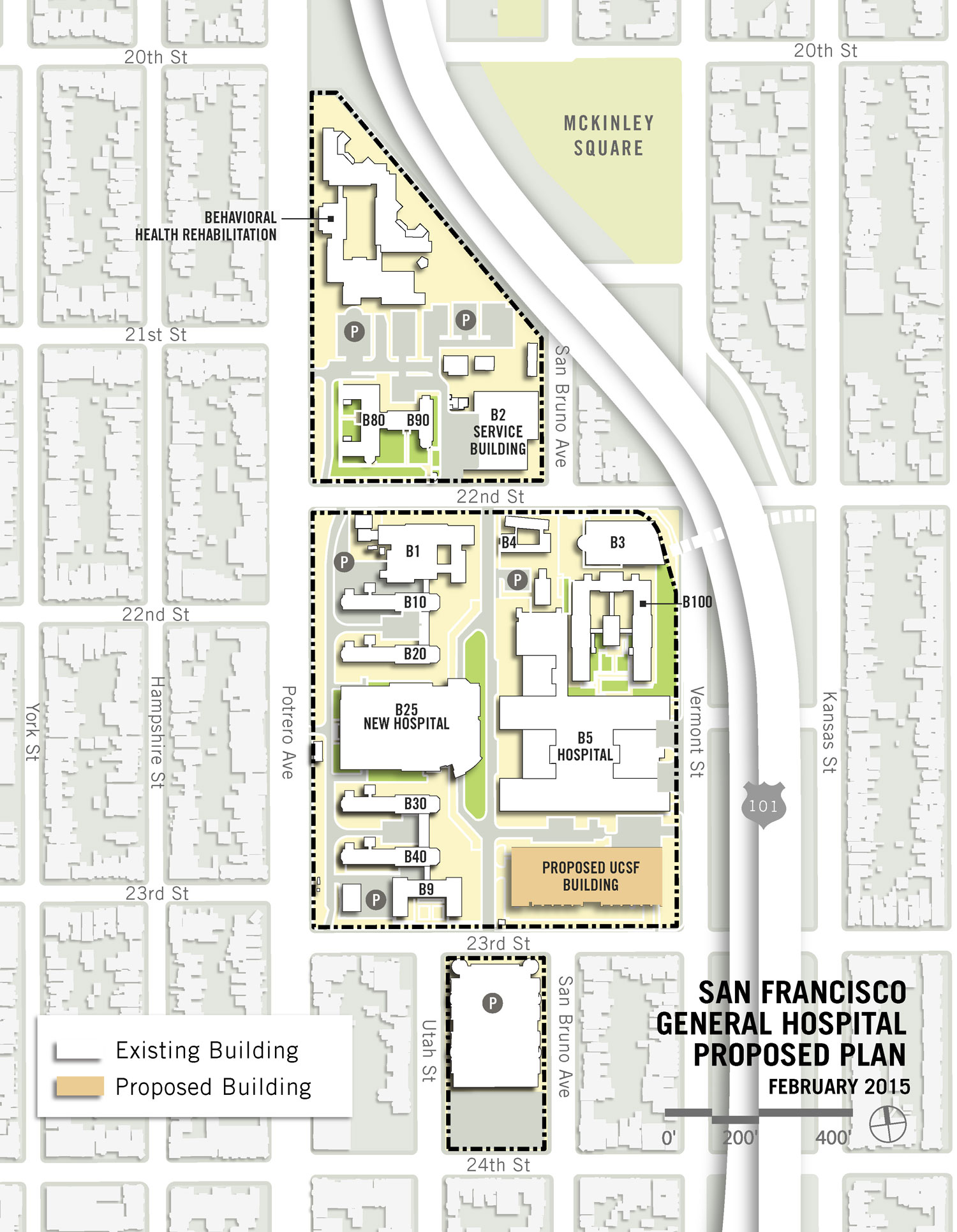 Proposed Location Of The New Ucsf Research Building Click On The Image To See Larger