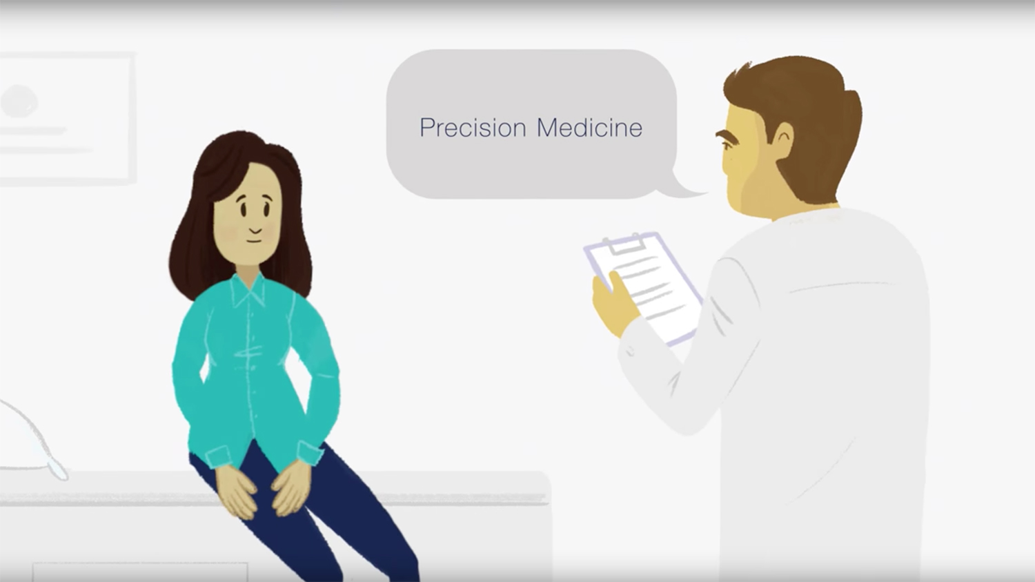 screenshot of Precision Medicine video