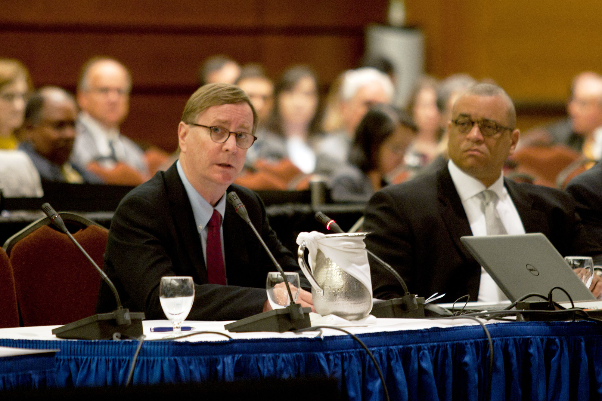 Sam Hawgood speaks during the UC Board of Regents meeting on July 17