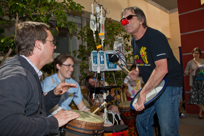 Kiff Gallagher, Sarah Fagan and Mickey Hart at UCSF