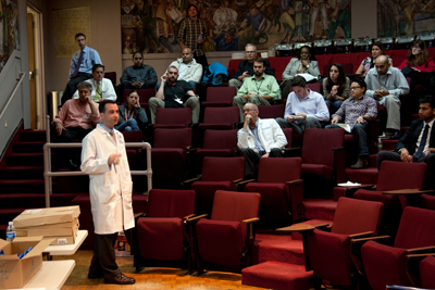 Russ Cucina speaks at a training seminar at UCSF.