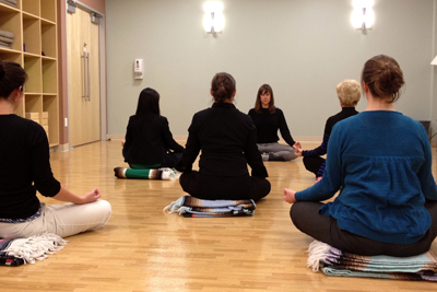 Wendy Adelson leads a yoga class at the UCSF Osher Center for Integrative Medici