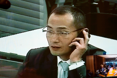 Shinya Yamanaka speaks via video conference