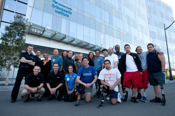 Amputee athletes gather for training at UCSF Mission Bay.