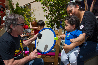 Grateful Dead drummer Mickey Hart performs at UCSF