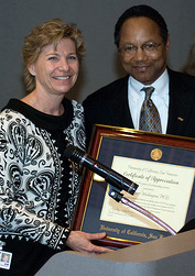 Sue Desmond-Hellmann and Eugene Washington