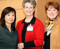 Diana Lau, Karen Rago and Mary Lou Licwinko