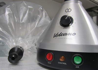 A vaporizer such as this one delivers the same amount of cannabis as if a patien