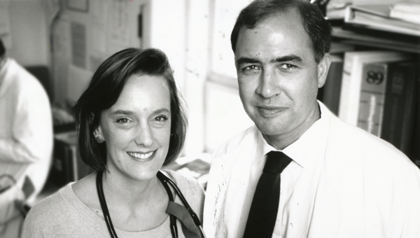 Molly Cooke, MD, with Paul Volberding, MD