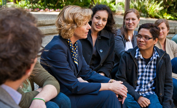 UCSF Chancellor talks with students