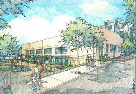 Pritzker Center exterior illustration