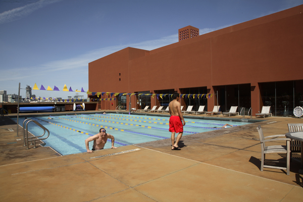 Swimming pool at the Mission Bay campus Fitness Center