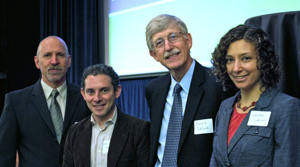 Participants in a human genetics symposium honoring the late UCSF medical geneti