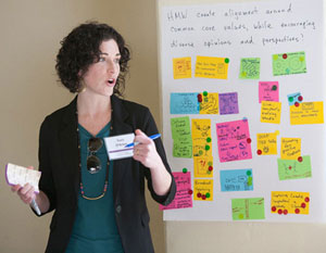 Theresa O'Brien, PhD, associate dean, coordinated with IDEO to prepare the retre