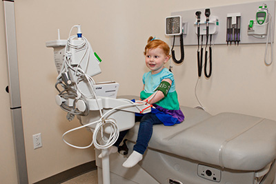 Kendall Layous, diagnosed with Type 1 diabetes, at the Madison Clinic