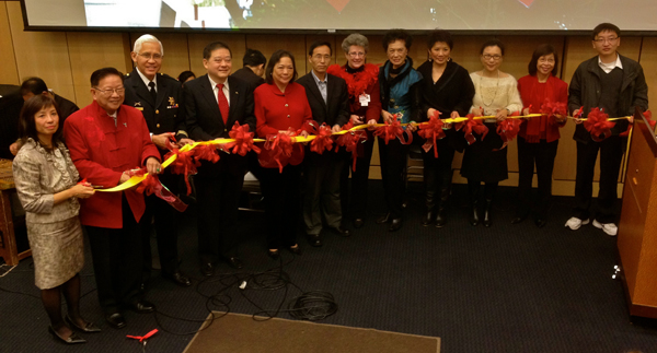 Ribbon-cutting ceremony at the Lunar New Year Celebration & Joy Luck Tree Benefi