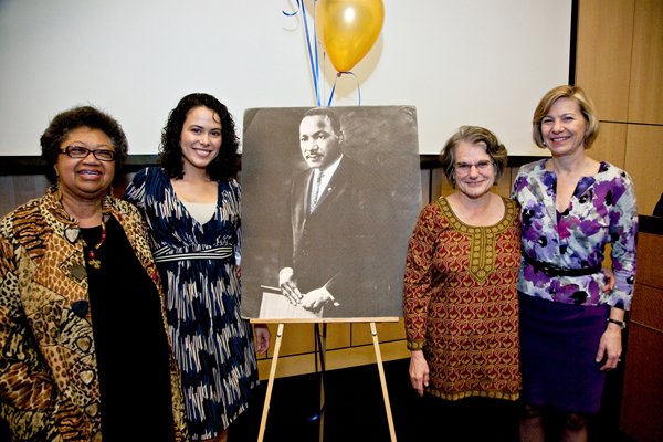 Priscilla Jane Banks, Cynthia Zamora, Carol Gross and CSF Chancellor Sue Desmond