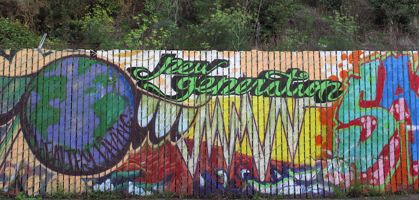 A mural outside the New Generation Health Center