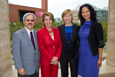Mayor Ed Lee, Democratic Leader Nancy Pelosi, UCSF Chancellor Susan Desmond-Hell