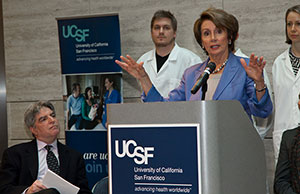 Democratic Leader Nancy Pelosi talks about the impact of federal budget cuts.