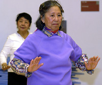 San Francisco resident Gerarda Daming from SOMA Filipino Center learns Tai Chi