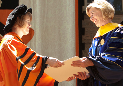 UCSF Chanccellor gets honorary degree from Princeton.