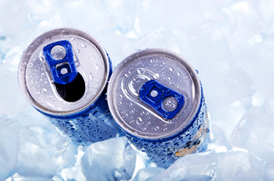 Stock image of soda cans