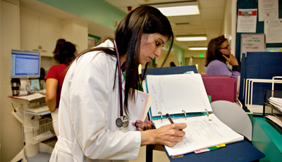 Sunita Puri, a UCSF medical resident, works at San Francisco General Hospital.