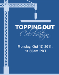Topping out celebration widget