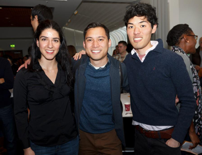 UCSF medical students Cathra Halabi, Ty Chan and Eugene Kim