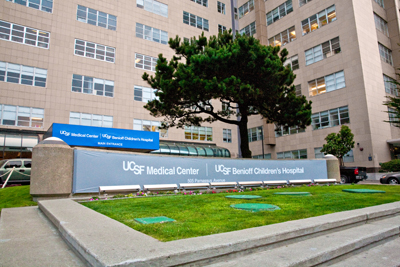UCSF Benioff Children's Hospital sign