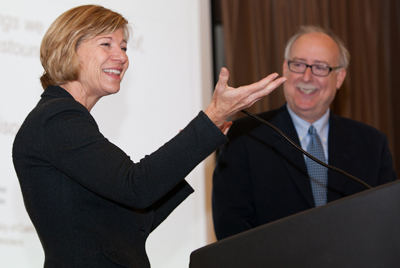 UCSF Chancellor Susan Desmond-Hellmann and Dean David Vlahov