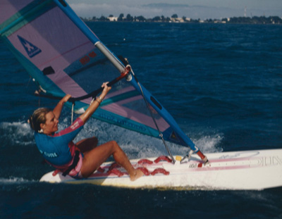 Heidi Dohse participates in a windsurf competition in Maui.