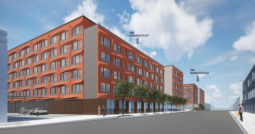 rendering of Minnesota Street student housing complex