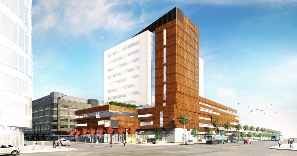 Exterior Rendering of Block 33, from Illinois and 16th Street