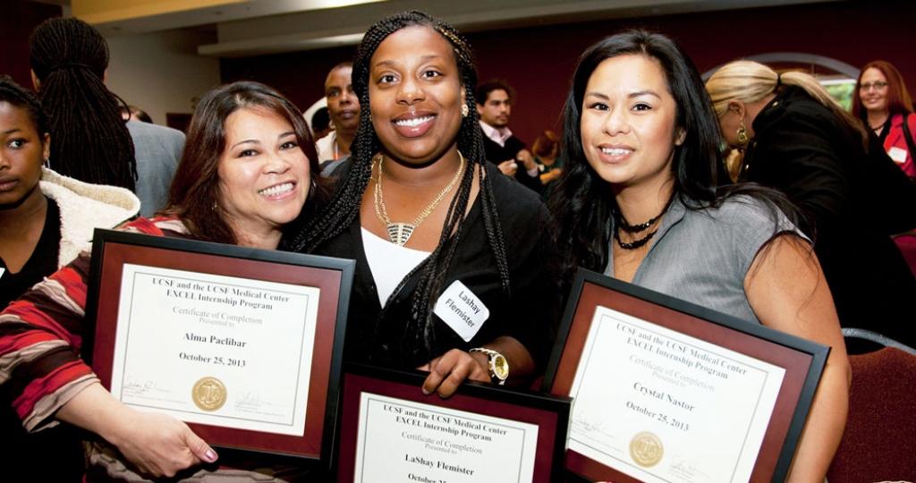 Graduates of UCSF's EXCEL job training program