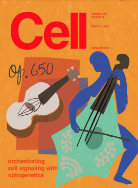 Cover of Cell Magazine designed by Lim