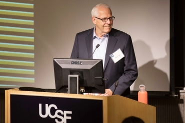 Roger Page speaks during the Discovery Fellows Syposium event
