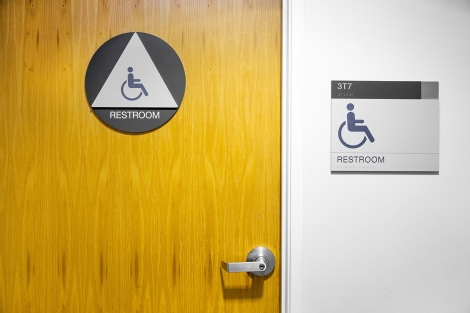 Bathroom Signs Circle And Triangle ucsf installs new gender-inclusive restroom signage | uc san francisco