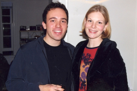 Zachary Knight and Jennifer Garrison at a New Year's party in 1999