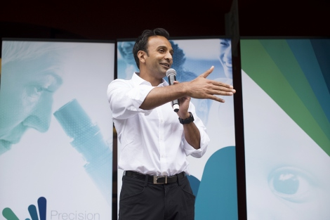 DJ Patil speaks during the precision public health summit at UCSF