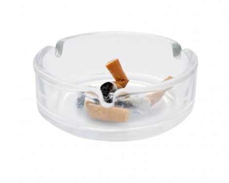 cigarettes are put out in an ashtray