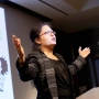 Sona Chowdhury delivers her winning talk at the 2018 Postdoc Slam competition