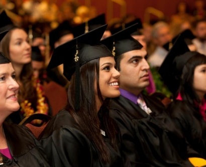 Students at the 2013 UCSF Graduate Division commencement ceremony